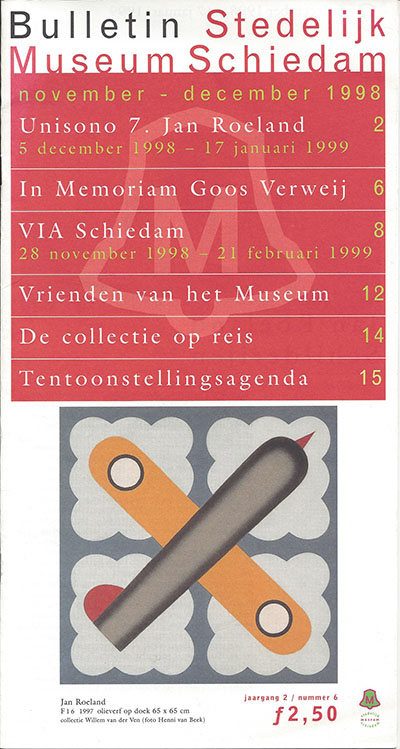 Bulletin-Stedelijk-Museum-Schiedam-November-december-1998-Jaargang-2--nummer-6