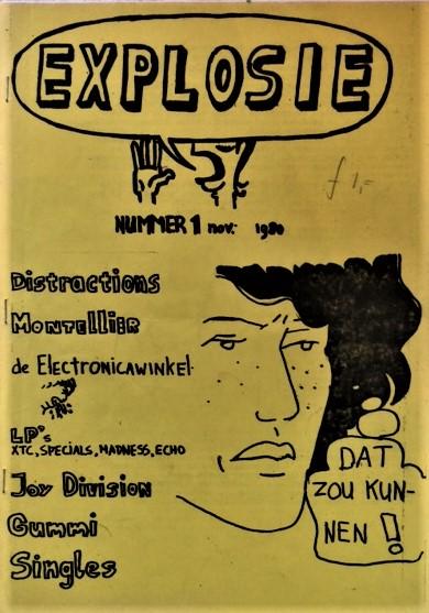 Explosie-Issue-1-Distractions-Montellier-de-Electronicawinkel-LP-s-Joy-Division-Gummi-Singles-1980