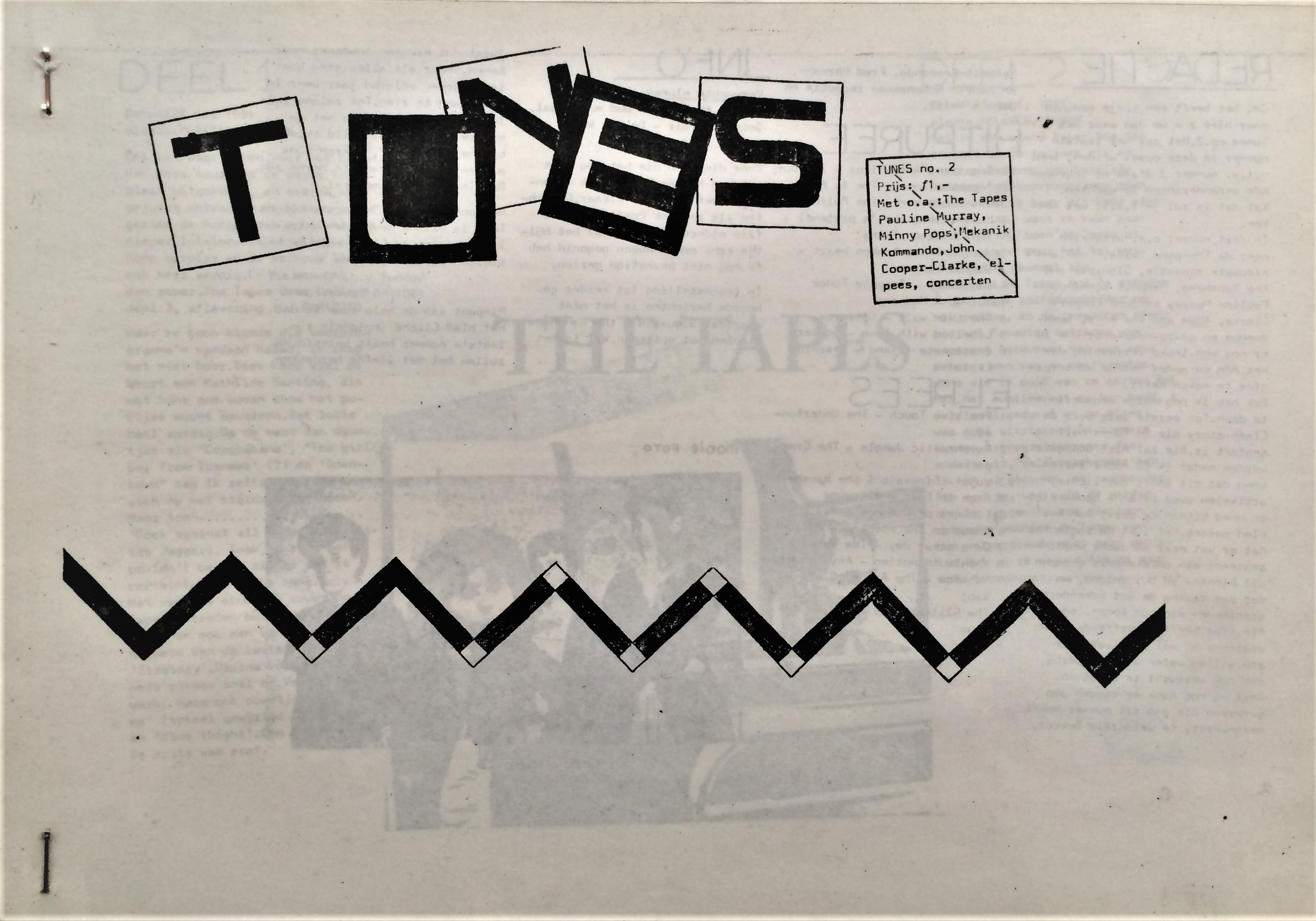 Tunes-Issue-2-The-Tapes-Pauline-Murray-Minny-Pops-Mekanik-kommando-John-Cooper-Clarke-Elpees-concert
