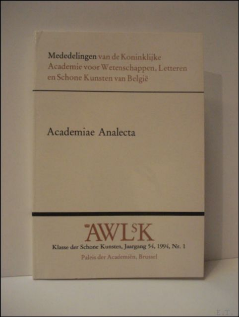 N/A; - ACADEMIAE ANALECTA,