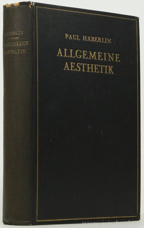 Allgemeine Aesthetik.