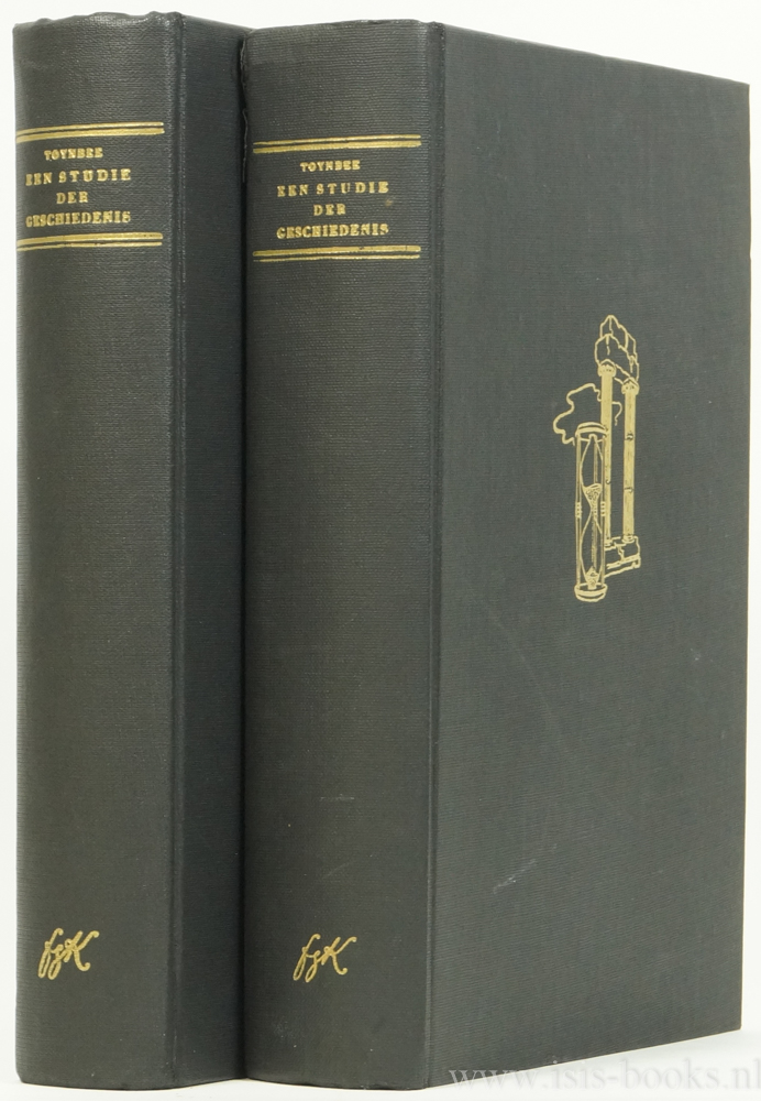 TOYNBEE, A.J. - Een studie der geschiedenis. Bewerkt door D.C. Somervell. Nederlandse vertaling van P. de Vries en L.O. Schuman met een inleiding van J. Romein. 2 delen compleet.