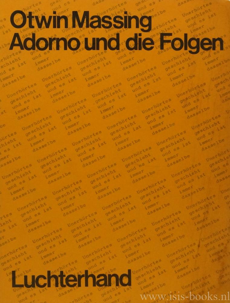 Adorno und die Folgen. Über...