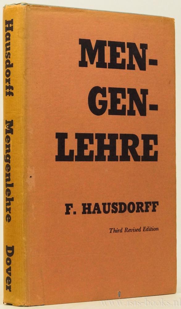HAUSDORFF, F. - Mengenlehre. Mit 12 Figuren.
