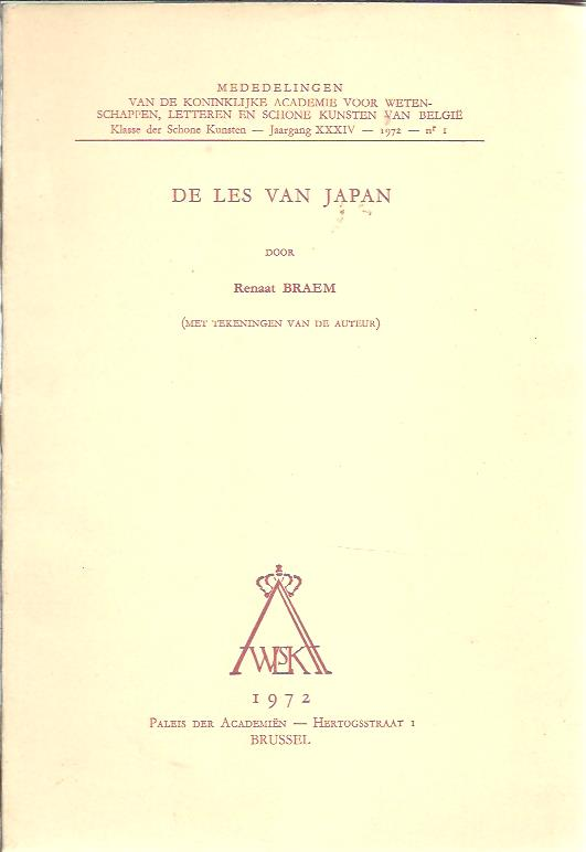 BRAEM, RENAAT - De les van Japan (met tekeningen van de auteur).