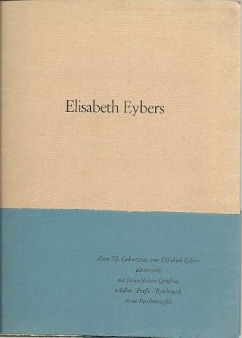EYBERS, Elisabeth - Zwölf Gedichte. Afrikaanse Lyrik.