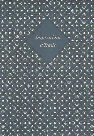 THOMAS-SCHELER - CATALOGUE - Impressions d'Italie. Livres publiés en Italie de 1468 à 1893.