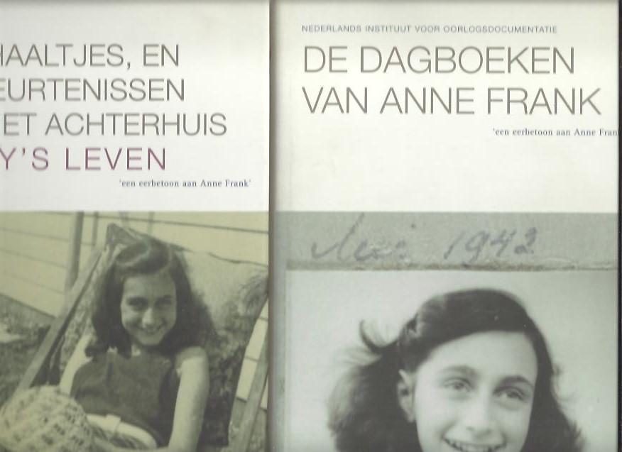 FRANK, Anne - De dagboeken van Anne Frank. + Verhaaltjes, en gebeurtenissen uit het Achterhuis. Cady's leven. Tekstverzorging en inleiding i.a.  David Barnouw & Gerrold van der Stroom.
